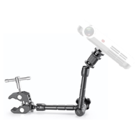 Adjustable Friction Power Articulating Arm and Large Super Clamp for Portable Projectors Up to 2Kg